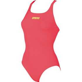 arena Solid Swim Pro Costume da bagno intero Donna, fluo red-soft green